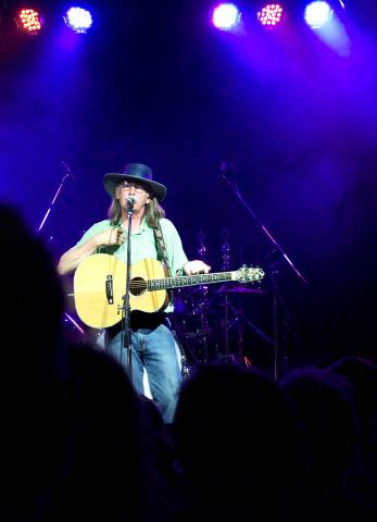 """I may be foolish but I don't care..."" My new favouritest ever Scottish Folk performer, Dougie Maclean. - Woodford 2015"