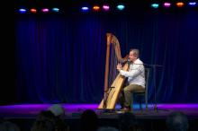 Kim Kirkman, classical and Irish harp music Woodford 2015